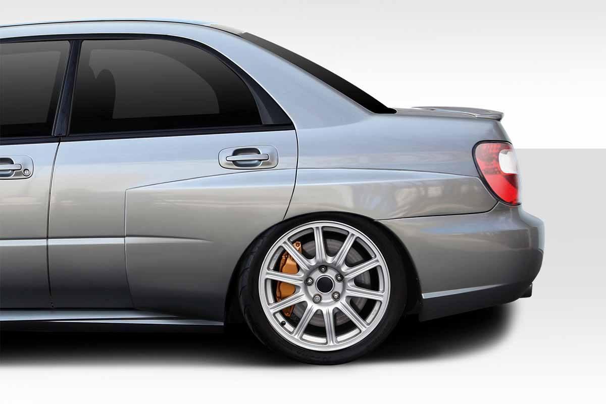 2002 2007 Subaru Impreza Wrx Sti 4dr Duraflex Wrc Look Wide Body 50mm Rear Fender Flares 5 Piece 114819 Jsk Tuning